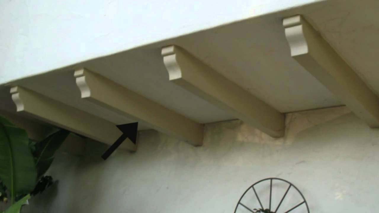 false beams under balcony remodeling and home building