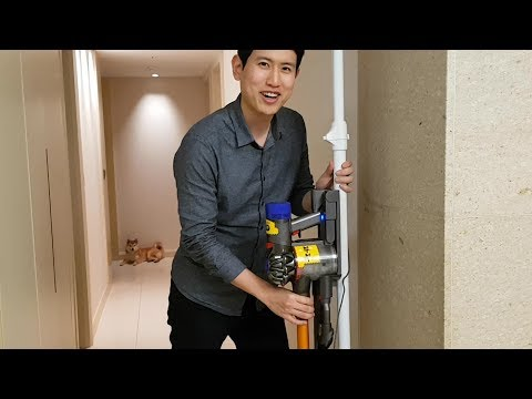 How to mount Dyson vacuum without drilling the wall.