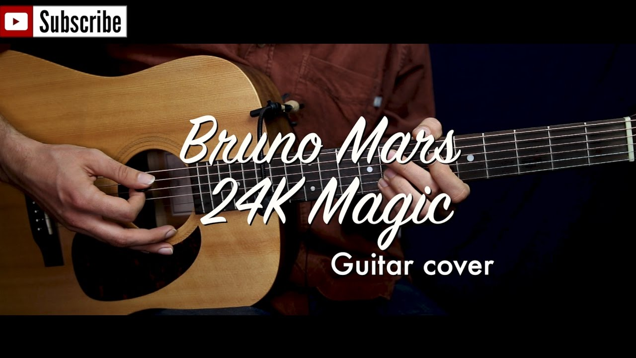 Bruno Mars 24k Magic Guitar Cover Guitar Lessontutorial W