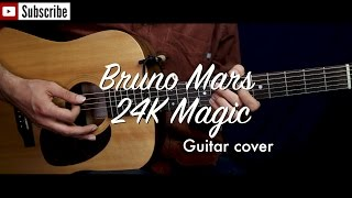 Baixar Bruno Mars - 24K Magic guitar cover / guitar (lesson/tutorial) w strumming, Chords. /play-along/