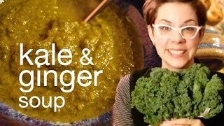 Kale, Sweet Potato, & Ginger Soup Recipe