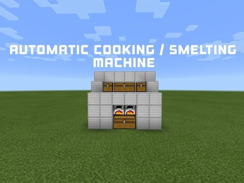 Redstone Tutorial | Automatic Smelting/Cooking Machine