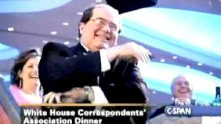 Stephen Colbert welcomes Justice Antonin Scalia