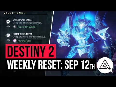 DESTINY 2 | Weekly Reset - New Powerful Gear, Milestones & Vendor Items (September 12th)