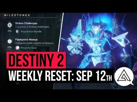DESTINY 2 | Weekly Reset - New Powerful Gear, Milestones & Vendor Items (September 12th)