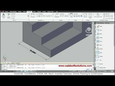 AutoCAD 3D Dimensioning Tutorial | Dimension 3D in AutoCAD 2010