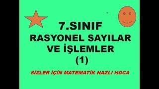 2018-2019 7.SINIF MATEMATİK RASYONEL SAYILAR VE İŞLEMLER-1-