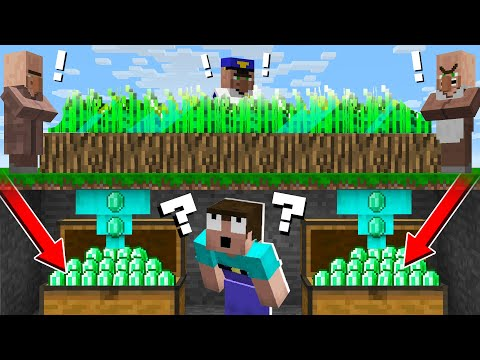 why-noob-steal-emerald-wheat-from-villagers?-stealing-emeralds-in-minecraft-noob-vs-pro