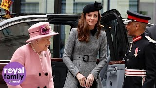 Queen and Duchess of Cambridge treated to spectacular views of London
