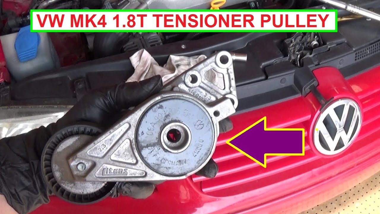 Vw Jetta Golf Mk4 Serpentine Belt Tensioner Pulley Remova And Replacement Youtube
