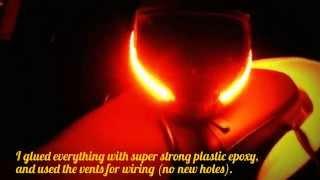 LED Lights Motorcycle Helmet