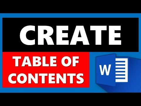 Create Table of Contents in Microsoft Word (MS Office)