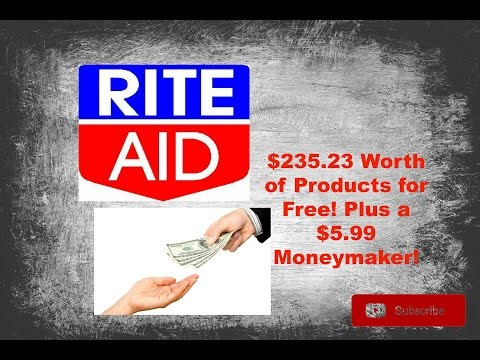 $235.23 Worth of Products for Free Plus $5.99 MM Rite Aid Clearance