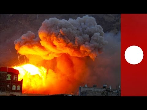 Huge blast: Air strike hits Sanaa arms factory, Yemen