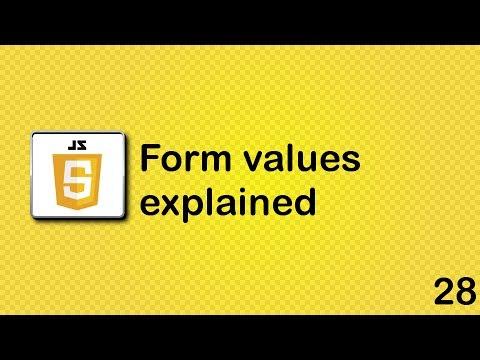 JavaScript beginner tutorial 28 - form values explained - YouTube