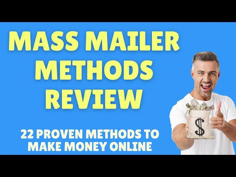 Mass Mailer Methods Review, 22 Proven Methods to Make Money with Affiliate Marketing + Bonuses thumbnail