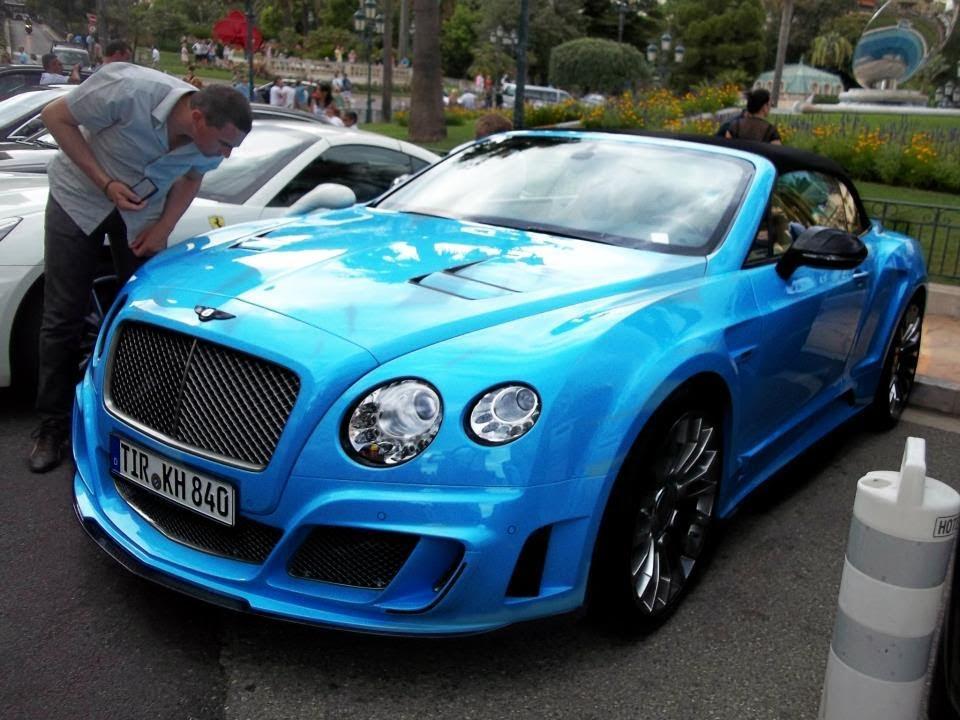 Le Mansory Ii Bright Blue Bentley Continental Gtc In Monac Youtube