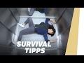 Wie überlebe ich einen Fahrstuhl-Absturz?