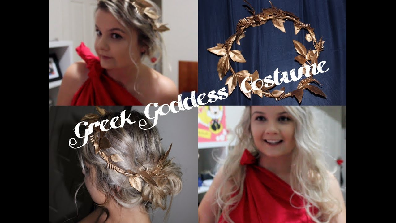 DIY Greek Goddess Costume Headpiece Hairstyles TOGA YouTube - Diy greek hairstyle