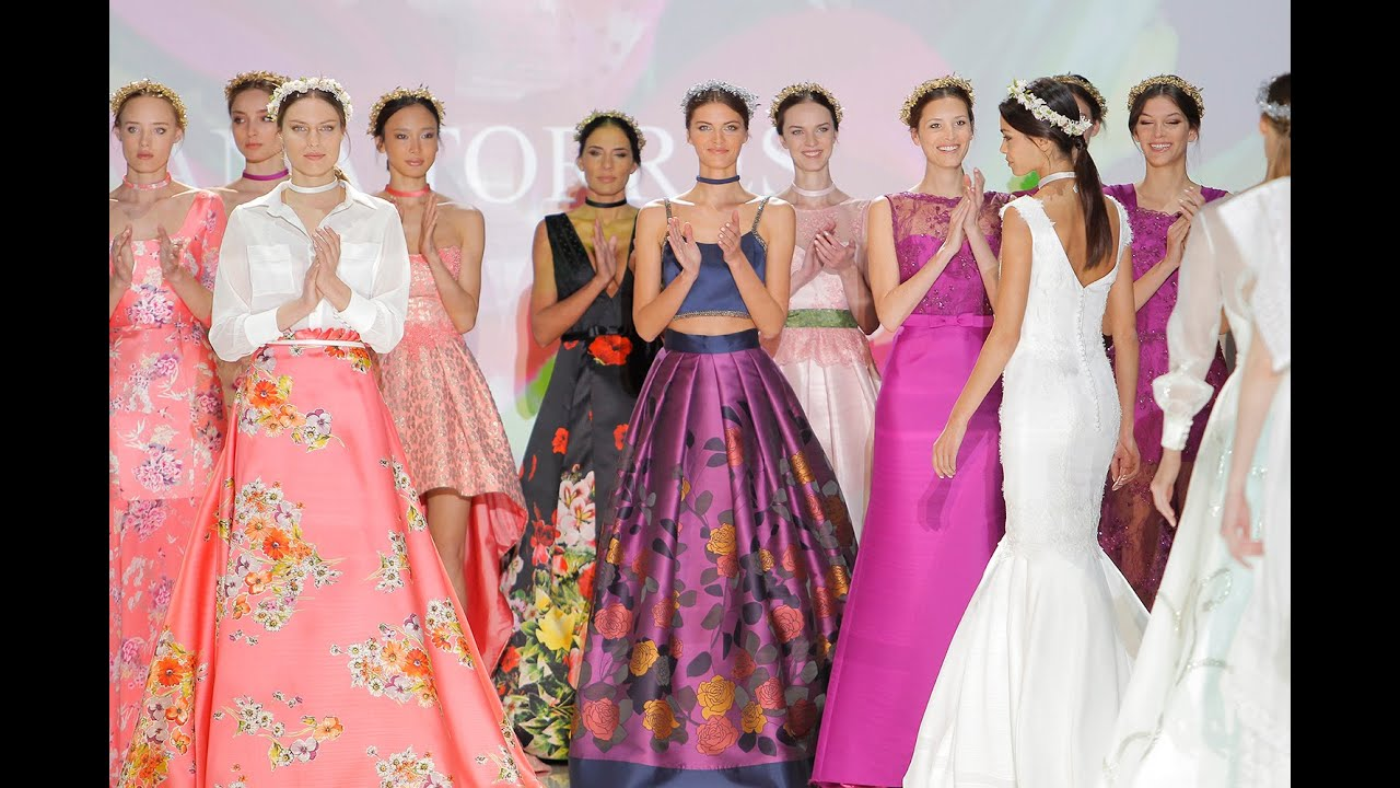 Barcelona Bridal Fashion Week 2016. Ana Torres colección 2017 - YouTube