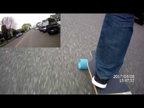 Mellow Board Electric Skateboard Ride - Can You Hear The Motors?
