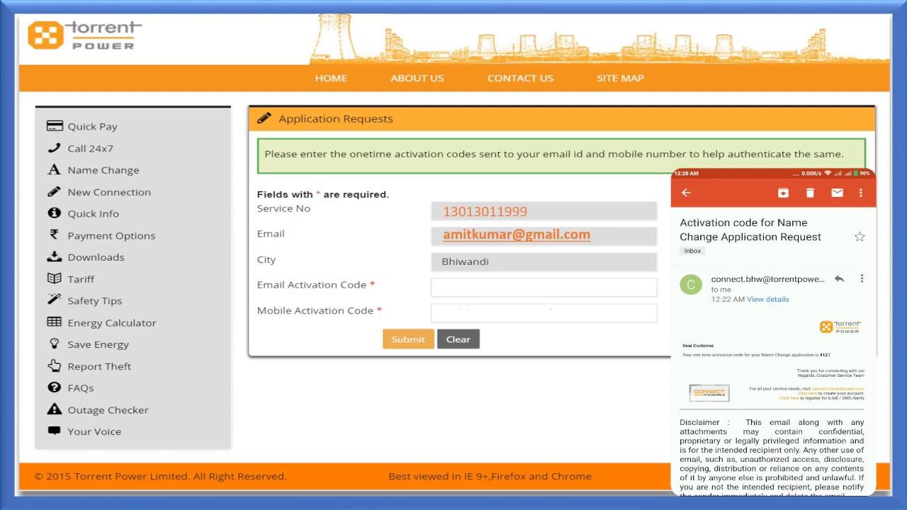 torrent electricity bill copy ahmedabad