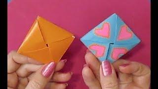 Как сделать подарок своими руками MАМЕ.Открытка - Конверт С СЮРПРИЗОМ - Оригами Из Бумаги (без клея)