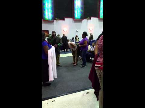 Joshua Stills Prophecying to a lady AT RAWW NATIONS
