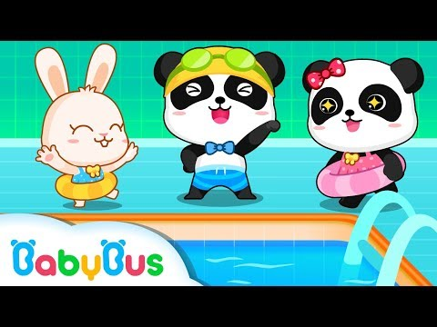Baby Panda's Swimming Competition | Winter Games | Kids Safety Tips | BabyBus