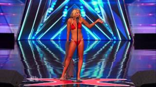 America's Got Talent S09E04 Maggie Lane Fitness Bikini Model Opera Singer