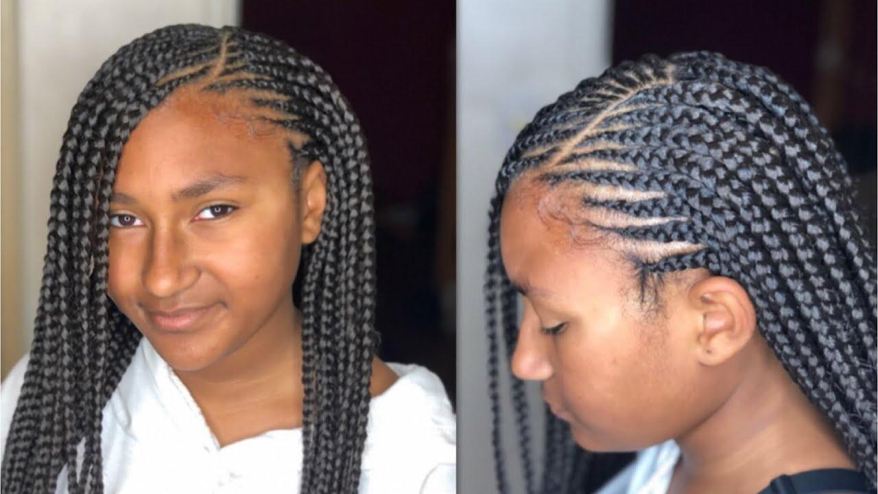 Hair Styles Feed In Braids: Feed In Braids + Box Braids