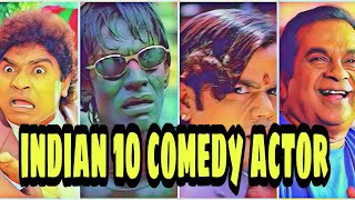 Top 10 Most Popular Comedy Actor of Indian cinema  best comedian of Bollywood  favorite comedian