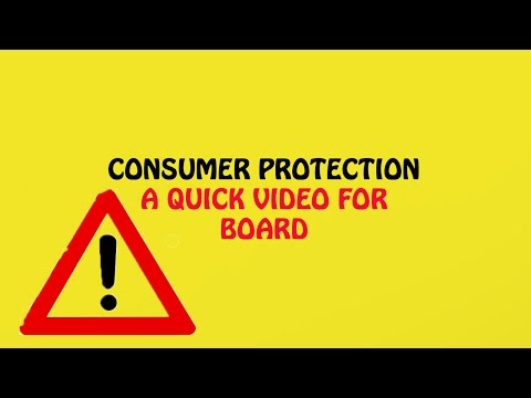 Consumer Protection: Quick Video