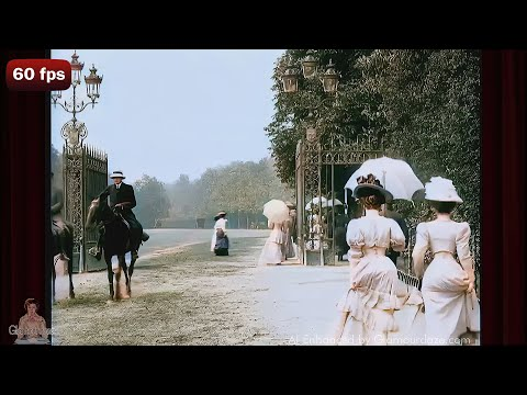 A Walk in the Park - c.1900 | Bois de Boulogne Paris - AI Enhanced [4k 60 fps]