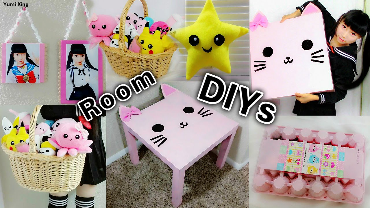 5 diy room decors and organization ideas cute easy inexpensive creative youtube. Black Bedroom Furniture Sets. Home Design Ideas