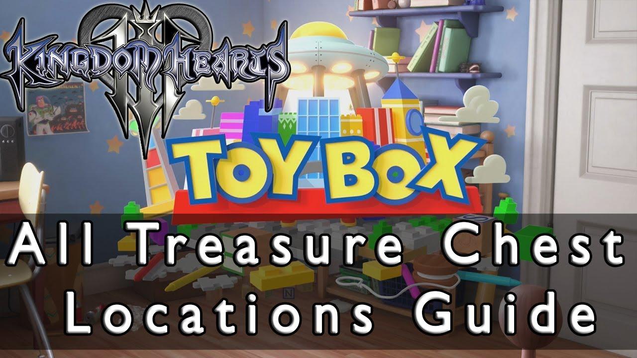 Kingdom Hearts 3 All Toy Box Treasure Chests Location Guide Youtube