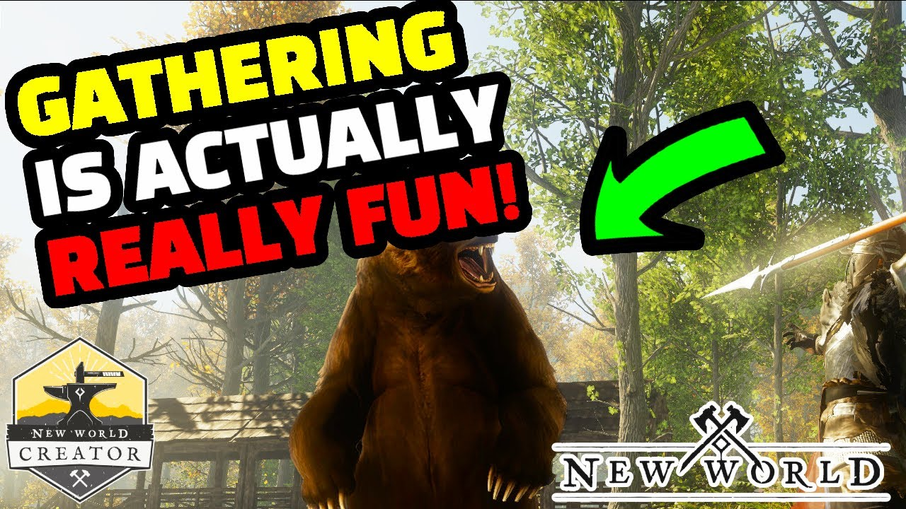 How GATHERING works in New World