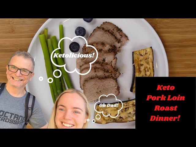Keto Pork Loin Roast Dinner   Dr. Pete & T   Keto Recipes