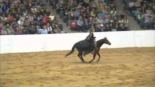Gambar cover Stacy Westfall - 2011 Congress Freestyle Reining Bridleless- Can Can Vaquero
