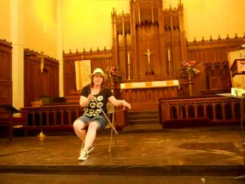 Sleeping Beauty Waltz on musical saw - NYC Musical Saw Festival 2015 - The Saw-C Lady