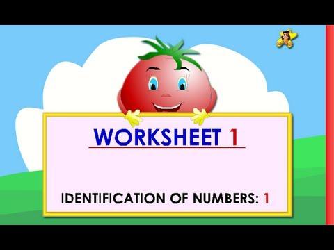 Kindergarten learning numbers worksheets - number 1