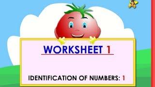 Kindergarten Learning Numbers Worksheets