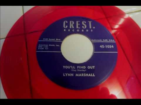 ''You'll find out''  Lynn Marshall  Crest 1034 Eddie Cochran Rockabilly 1957
