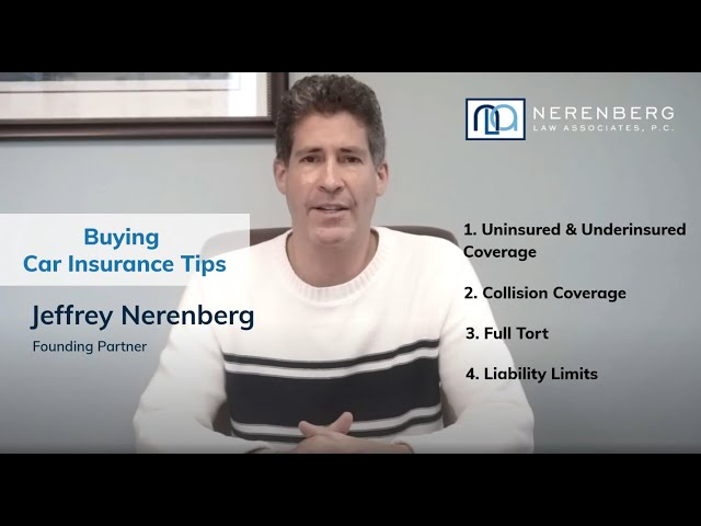 Buying Car Insurance Tips from a Philadelphia Car Accident Lawyer