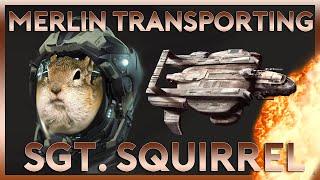 Merlin Takeoff Inside Starfarer | Sargent Squirrel | Star Citizen 2.4 Gameplay Highlight