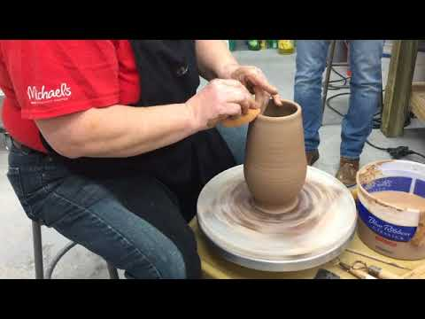 Advanced Throwing Class - demo 3 lb Vessel throwing finished