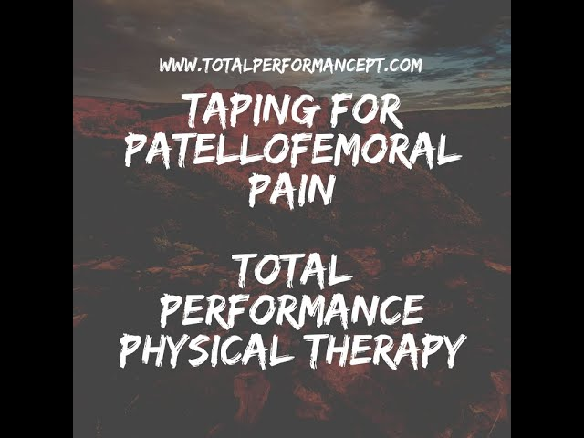 Taping for patellofemoral pain