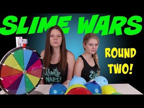 SLIME WARS MYSTERY WHEEL BALLOON POP PART 2 || Taylor and Vaness