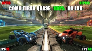 Como tirar QUASE 100% do Lag do Rocket League