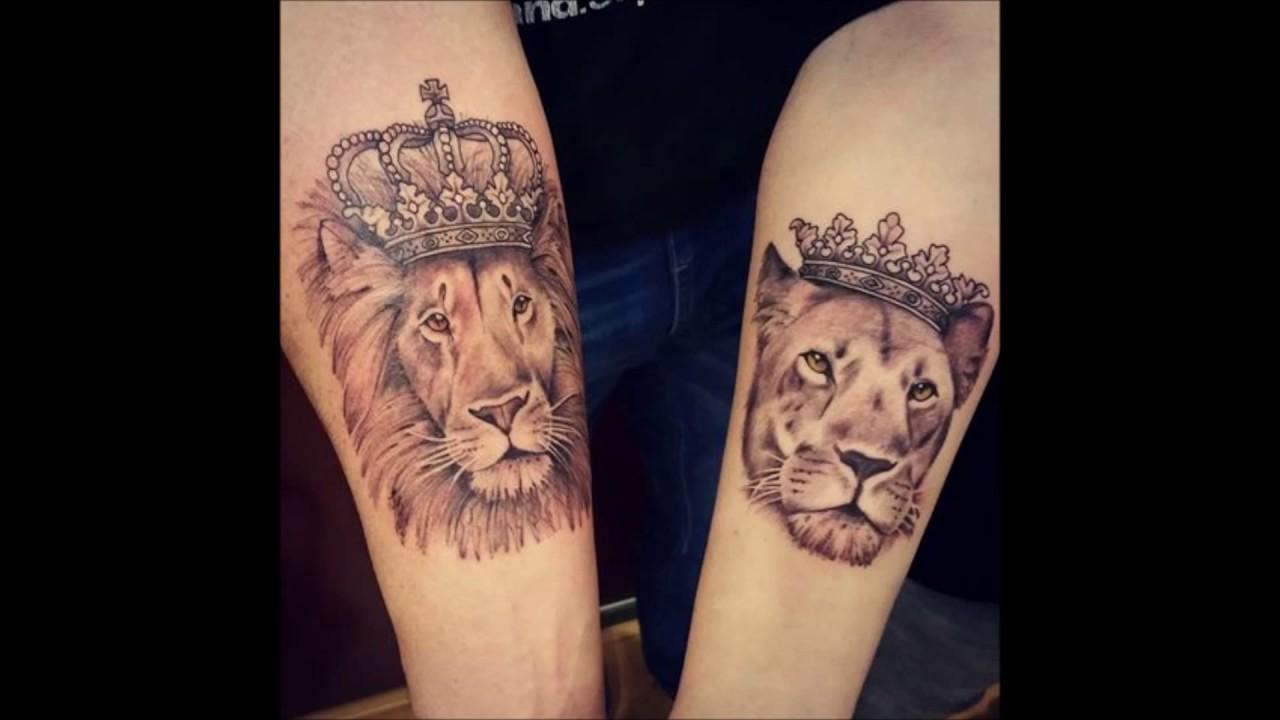 Tatuajes En Pareja De Leones Youtube